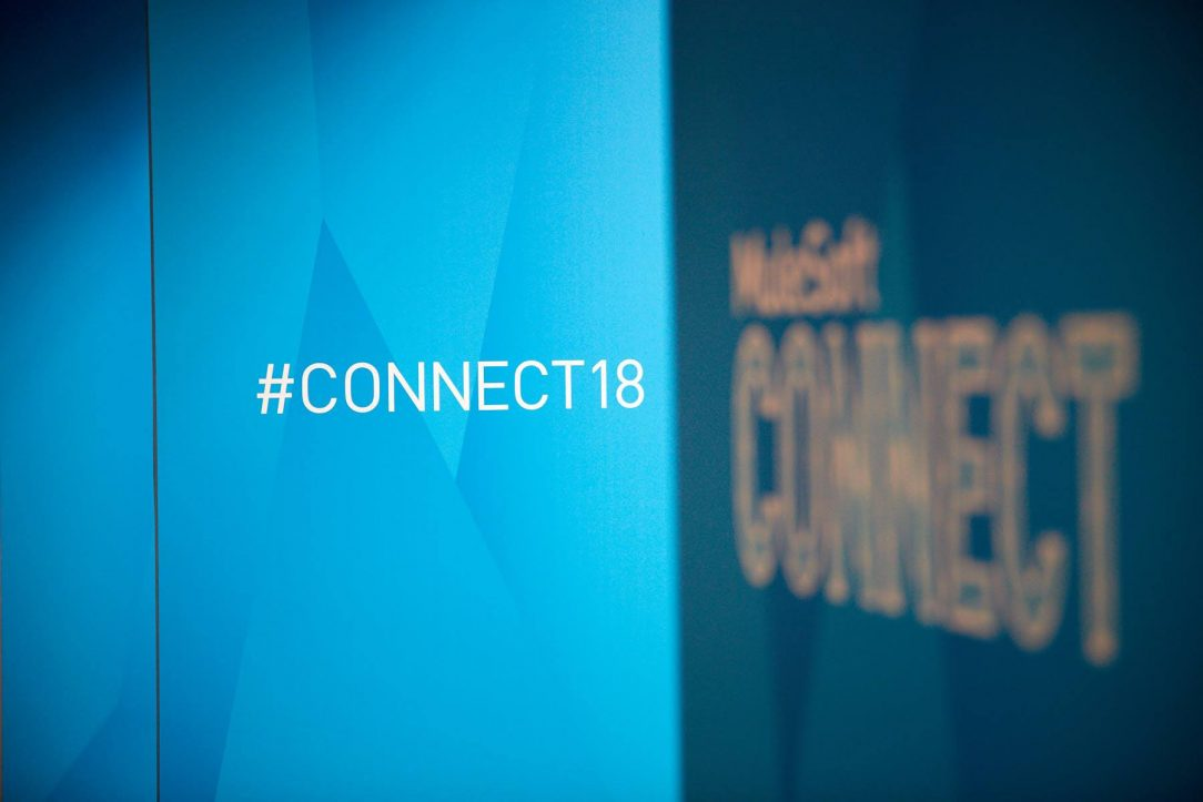 Image of two walls at the MuleSoft Connect 2018 conference.
